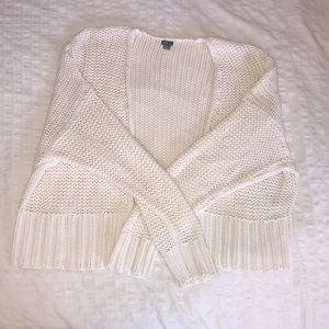 AERIE - S Ivory Knit Cardigan